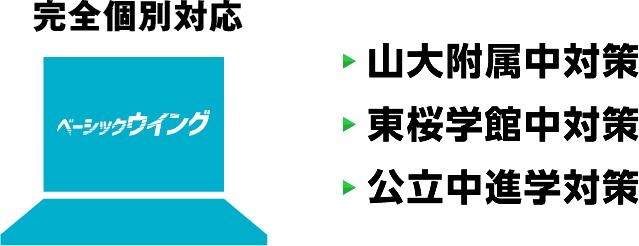 完全個別対応 山大附属中対策 東桜学館中対策 公立中進学対策