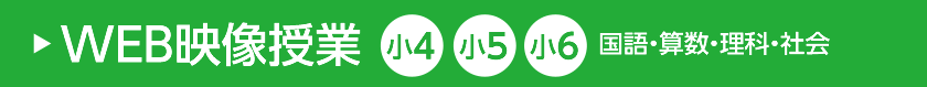 WEB映像授業 小4、小5、小6 国語・算数・理科・社会
